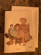 """C. Don Ensor Notecard """"tea For Two"""" Raggedy Ann Excellent Condition"""