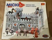 Papo Micki Chateau Fort Knightand039s Castle Play Set 10.2005 W 2 Figures New In Box