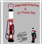 Vintage Gas Pump And Air Pump Gas Station Set O Scale 1/48 Unpainted