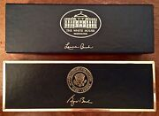 George W. Bush And First Lady Laura Bush White House Presidential Seal Pen Set