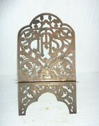 Antique Church Catholic Ihs Ornate Bible Book Stand Gold Tone Alter Piece