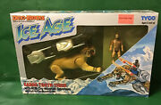 1990 Dino-riders Ice Agesabre Tooth Tiger With Kub Nib By Tyco