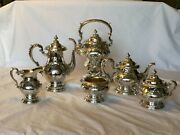 Gorham Sterling Silver Tea Set 6 Piece -antique- Exquisite Finely Hand Chased.