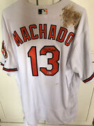 Manny Machado Signed Game Used/worn Baltimore Orioles Jersey Mlb Authentic