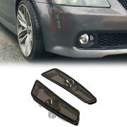 Smoke Front Bumper Side Markers Lights Pair For 2008-2009 Pontiac G8 Gt Gxp