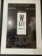 Tarantino Signed Autographed Wait Until Dark Cast Poster Broadway Tomei Rare