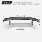 For Honda Nsx Na1 Na2 Vtx4 Type Frp Unpainted Trunk +carbon Rear Gt Spoiler Wing