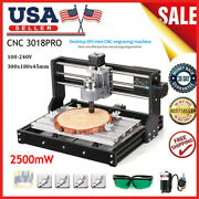 3018 Pro Diy Cnc Router 2 In 1 La Ser Engraving Machine 2500mw Ander11 Collet S6a4