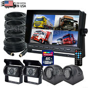 9 Quad Split Monitor Dvr Record Built In+4x Ahd Ir Backup Side Camera For Truck