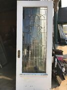 An 419 Antique Leaded Beveled Entrance Door 36 X 90 X 1 And Three-quarter