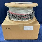 Good R/c 1/2 X 200and039 Depth Color-coded Anchor Line W/ 10and039 5/16 Bbb Galv. Chain