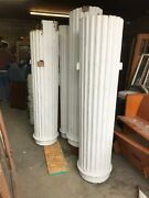Set Of Antique Tapered Fluted Wood Exterior Columns And Capitals 9andrsquo X 28andrdquo