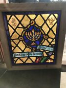 Sg 2012 Religious Painted Fired Stainglass Window 25.25 X 27.75