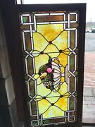 Sg 2705 Antique Beveled Stained Glass Fruit Bowl Transom Window 25.5 X 51.75