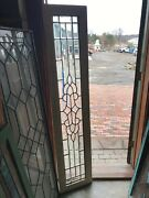 Sg 3095 Gorgeous Antique All Beveled Glass Transom Window 15 X 71.25