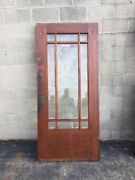 Cm 206 Antique Pine All Beveled Glass Town Hounds Entry Door 35.75 X 80