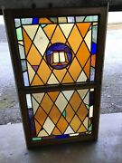 Can 4 Antique Double Hung Stained Glass Window Bible 34.5 X 59.5