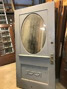 An565 Antique 1/2 Beveled Glass Oval Entry Door 42 X 83.5