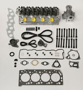 New Cylinder Head Kit With Water Pump And Timing Belt To Fit Mitsubishi 2.5 Td