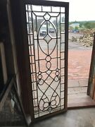Sg 2904 Antique All Beveled Glass Window 20.75 X 54.75