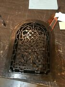 D 45 Antique Clean And Lacquered Arch Top Heating Grate No Fins 10 X 14