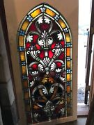 Sg2658. 6avail Sold Each Painted In Fired Arch Top Gothic Stained Glass Window