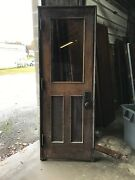 Mark A Antique Oak Entrance Door With Jam 33.75 X 92.5 X 5