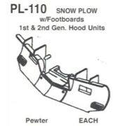 Details West 110 - Snow Plow W/ Footboards 1 St. And 2nd. Ge. H - Ho Scale