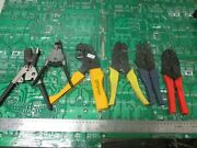 Amp Ideal Itt-cannon Crimping Hand Tools Lot Of 6