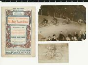 1911 Six Day Team Bicycle Race At Madison Square Garden Program Rppc And Photo
