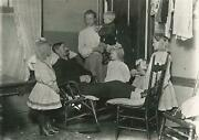 1910 Man Dying Of Tuberculosis With Family Chicago Photo By Lewis Hine Tenements