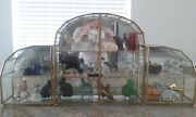 Franklin Mint Curio Cabinet Cats Figurines With Mirrored Cabinets 30 Cats