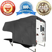 New Premium Rv Truck Camper Cover Fits 8ft To 10ft Long Truck Bed Campers, Gray