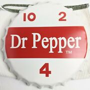 Dr. Pepper Bottle Cap Metal Tin Sign 14 Inches 12 Front Face