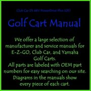 Maintenance And Service Manual For 2001 Club Car Ds 48v Powerdrive Plus Golf Cart