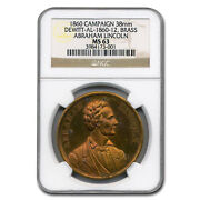 1860 Lincoln Campaign Medal Ms-63 Ngc - Sku227064