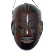 3037 Antique Wooden Miniature Mask North Eastern-india Nagaland 19th C.