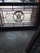 Sg 185 Antique Arts And Crafts Stainglass Window