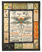 Dragonfly Fleece Blanket Gift For Wife From Husband Love You Sherpa Blanket Xmas