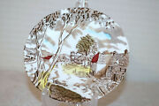 W.h. Grindley Sunday Morning Staffordshire Ware Bread And Butter Plates Set Of 6