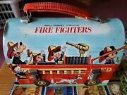 Vintage Disney Character Fire Fighters Dome Lunch Box No Thermos 1969 Nice
