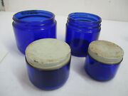 7 Cobalt Blue Noxema And Vicks Bottles