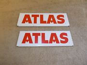 Vintage Atlas Tire Rack Signs Advertizing Parts Gas Station Oil Can