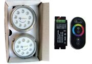 Underwater Led Boat And Yacht Led Light Rgb Color 2 X 27w 9-30v Dc Rgb Controller
