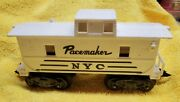 Vintage Marx O Scale 8-wheel White Nyc Pacemaker Caboose Tilt Couplers