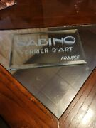 Sabino Glass Dealers Display Very Rare.only One Iand039ve Ever Seen.see Photos.