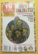 2004 Tv Guide Simpsons Happy Holidays With Holographic Family Christmas Ornament