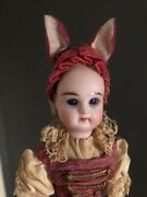 Antique French Easter Bunny Bisque Marotte Doll