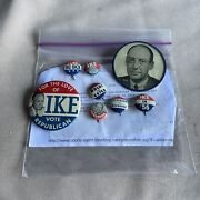 1956 Presidential Campaign Buttons Eisenhower / Nixon And Stevenson / Kefauver