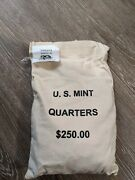 2002 Indiana D State Quarters Unopened Mint Sewn Bag 1000 Coins 250